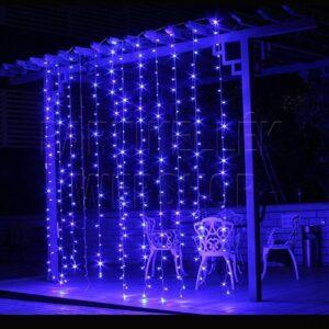 led fényfüggöny kék