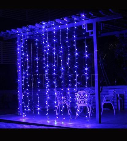 fényfüggöny kék