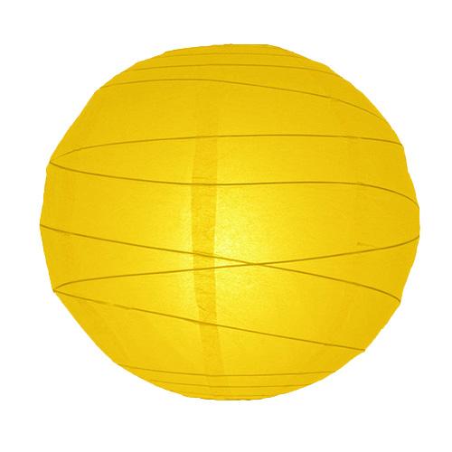 papír lampion sárga színben