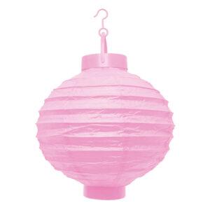 LED lampion rózsaszín