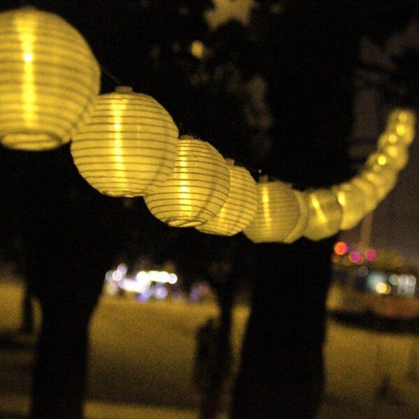 szolár lampionfüzér