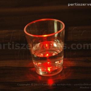 led party pohár piros