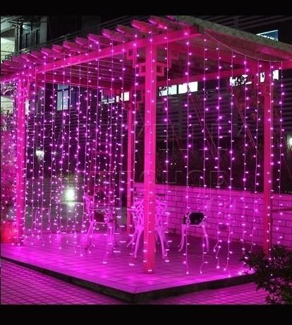 led függöny pink