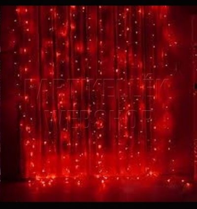 ledes függöny piros