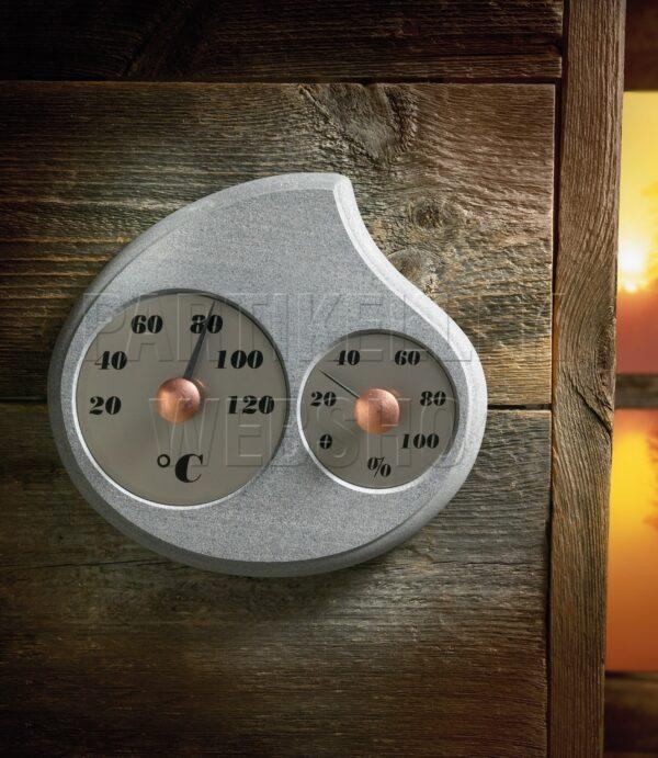 kőből készült hőmérő szaunába