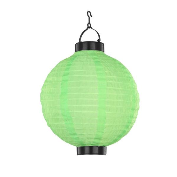 Energiatakarékos solar LED lampion. Ki – bekapcsolható Vízálló Színe: zöld Anyaga: műanyag Üzemidő: kb. 8 óra