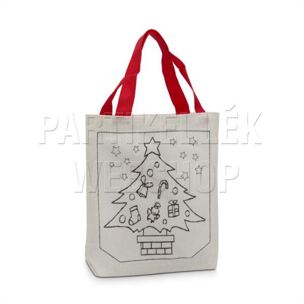 Karácsonyi színezhető táska