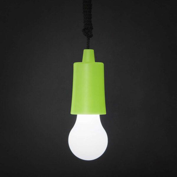 huzokapcsolos lampa zöld