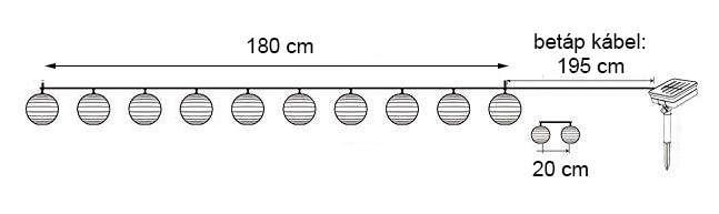 műszaki rajz lampionfüzér