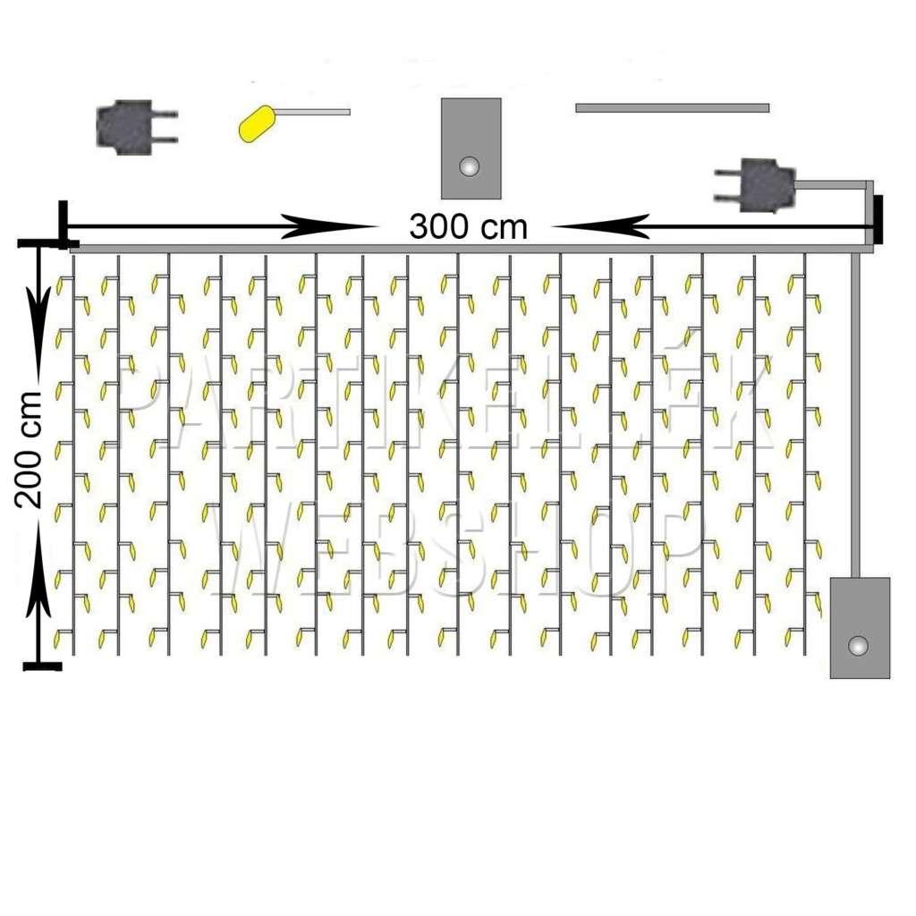 műszaki rajz függöny 3x2