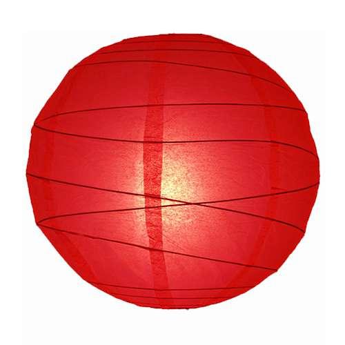 papír lampion piros szabálytalan
