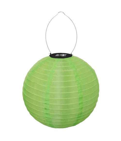 led lampion zöld solar