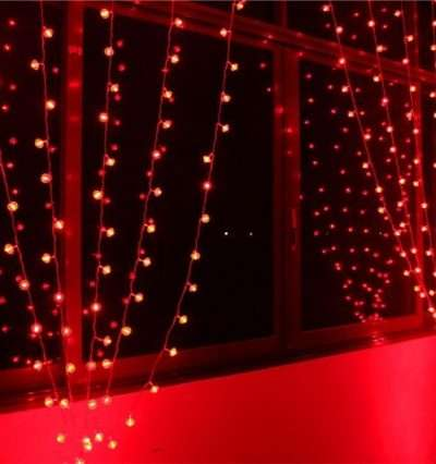 led dekoráció piros