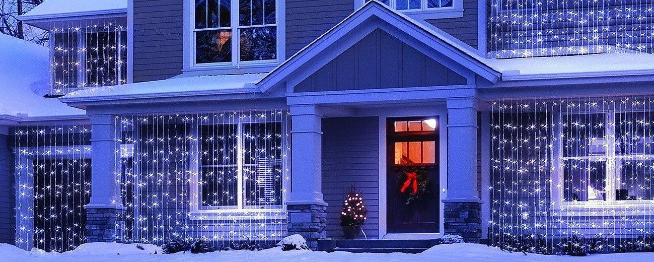 3×3 méteres LED fényfüggönyök különböző színekben kaphatók